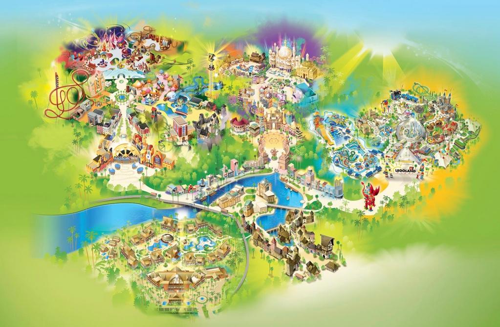парк развлечений dubai parks and resorts дубай